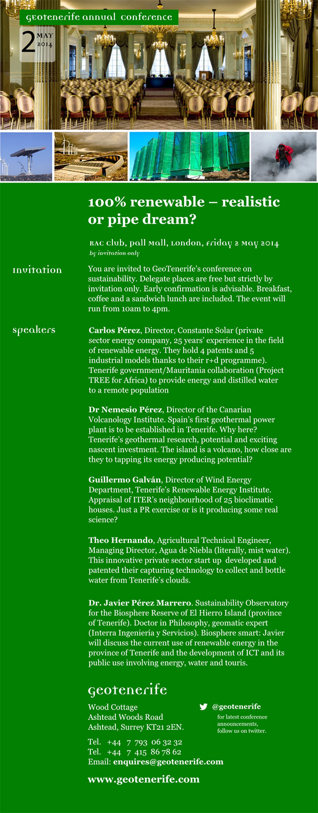 Conferences Geotenerife