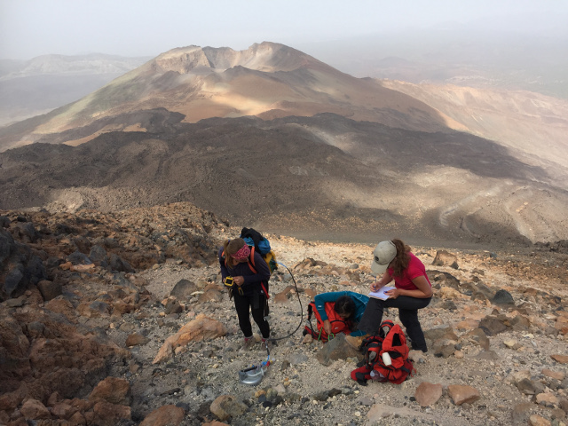 Diffuse CO2 degassing monitoring, summit crater Teide volcano, Tenerife